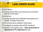 land owner share