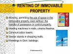 renting of immovable property25