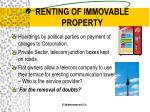 renting of immovable property26