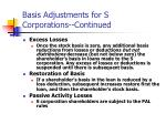 basis adjustments for s corporations continued