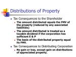distributions of property