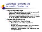 guaranteed payments and partnership distributions