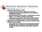 partnership operations allocations
