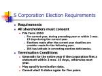 s corporation election requirements