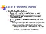sale of a partnership interest
