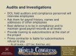 audits and investigations