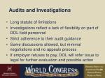 audits and investigations22