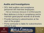 audits and investigations42
