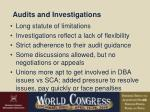 audits and investigations43