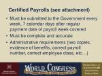 certified payrolls see attachment
