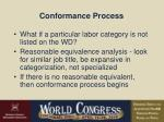conformance process