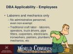dba applicability employees