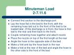 minuteman load 2 7 11 6