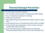 thermal damage prevention