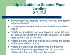 up a ladder to second floor landing 2 7 17 2