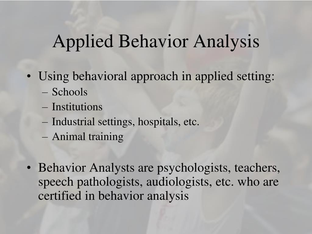 applied behavior analysis l.