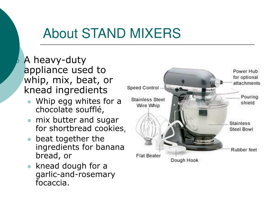 About STAND MIXERS