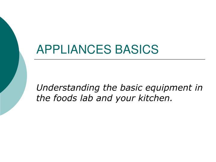 appliances basics n.
