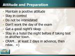 attitude and preparation