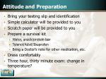 attitude and preparation41