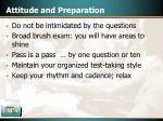 attitude and preparation42