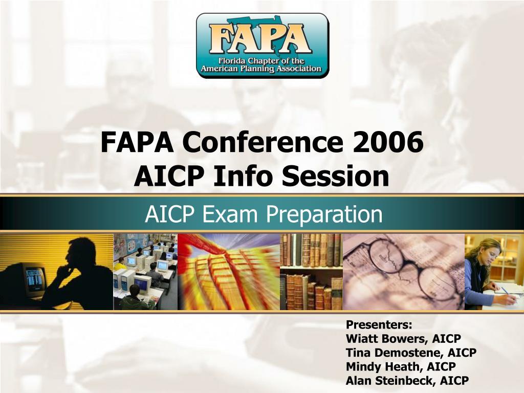 fapa conference 2006 aicp info session l.