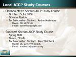 local aicp study courses