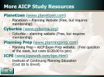 more aicp study resources