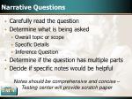 narrative questions