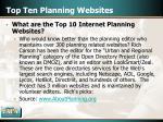 top ten planning websites