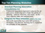 top ten planning websites13