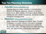 top ten planning websites14