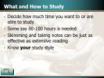 what and how to study