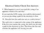 electrical safety check test answers47