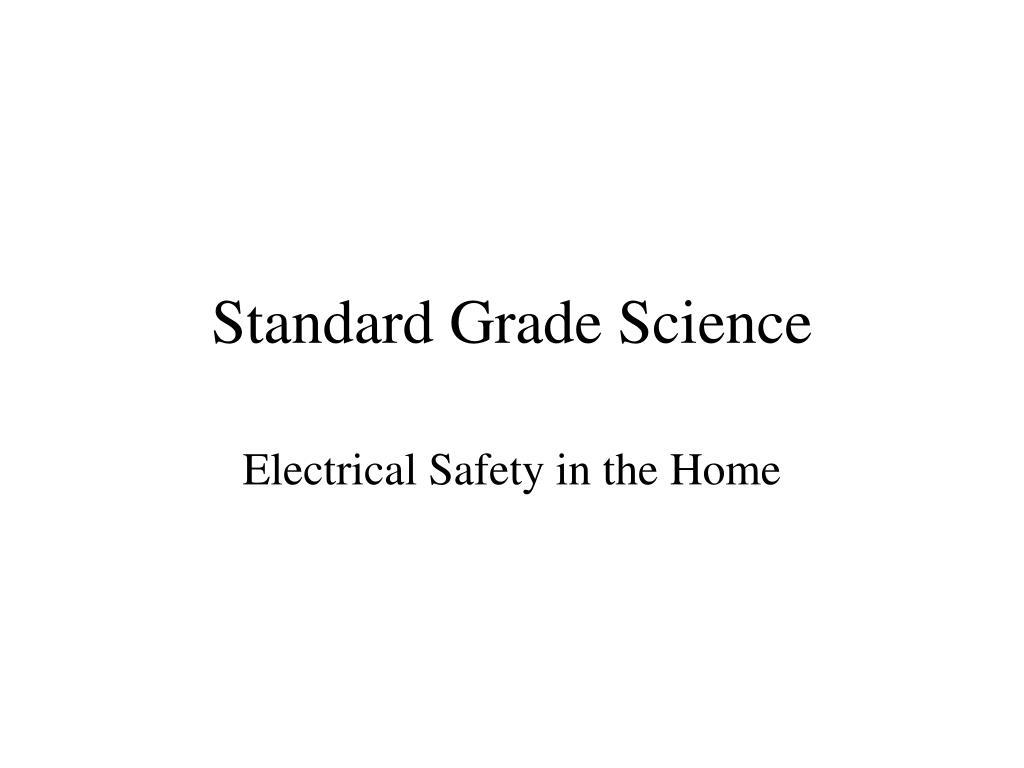 standard grade science l.