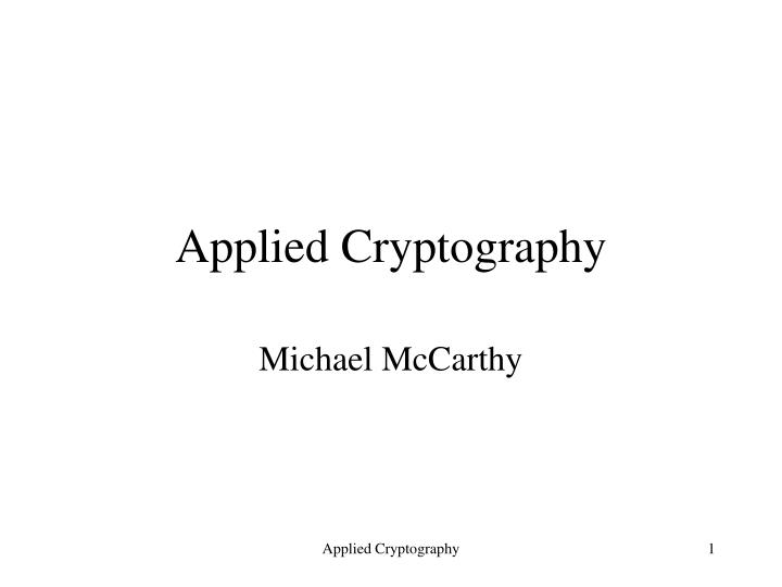 applied cryptography n.