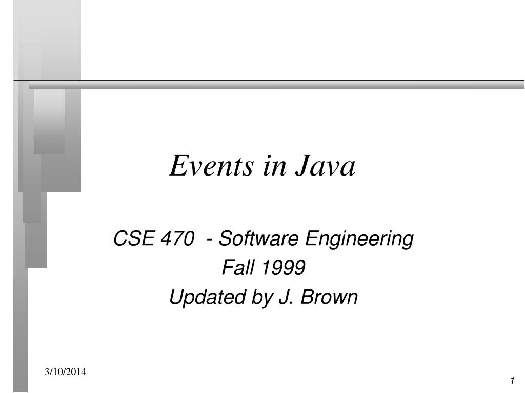 events in java l.
