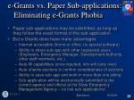 e grants vs paper sub applications eliminating e grants phobia