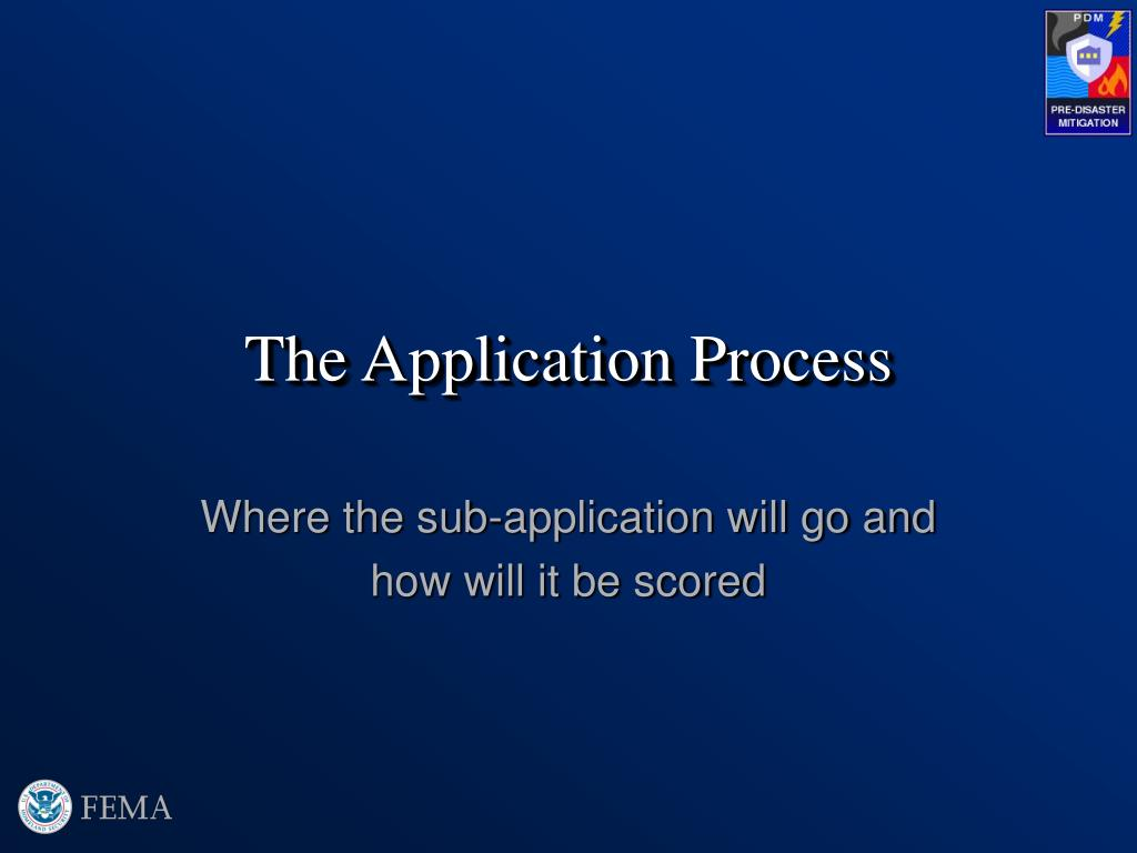 the application process l.