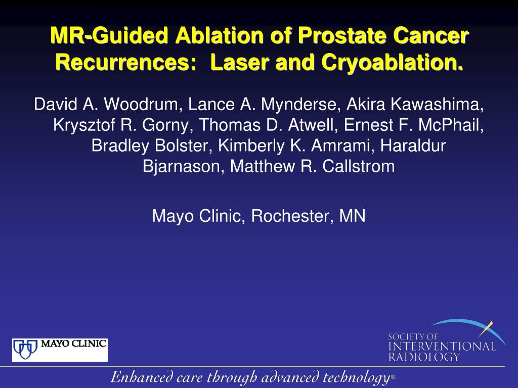 mr guided ablation of prostate cancer recurrences laser and cryoablation l.