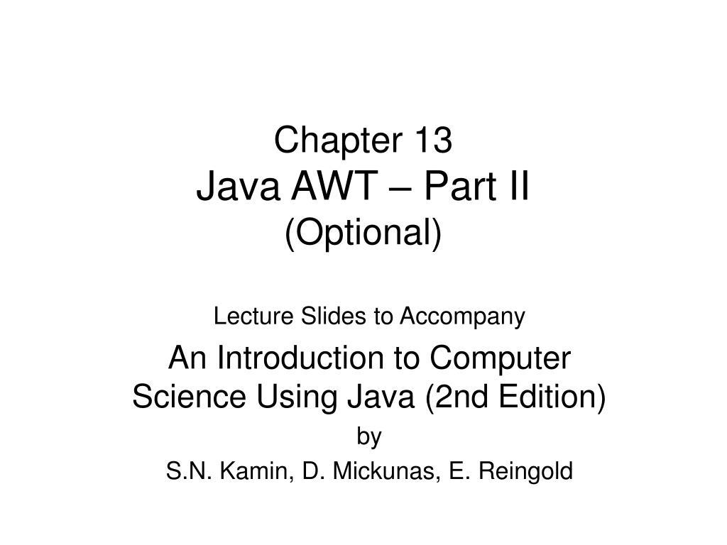 chapter 13 java awt part ii optional l.