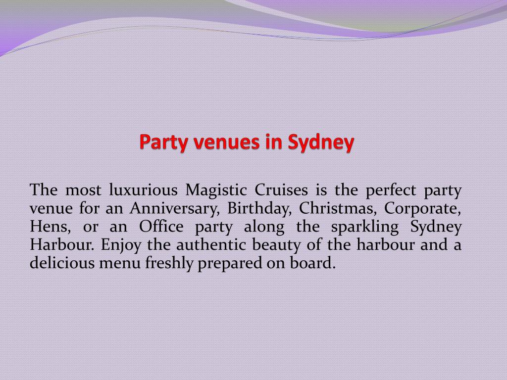 party venues in sydney l.