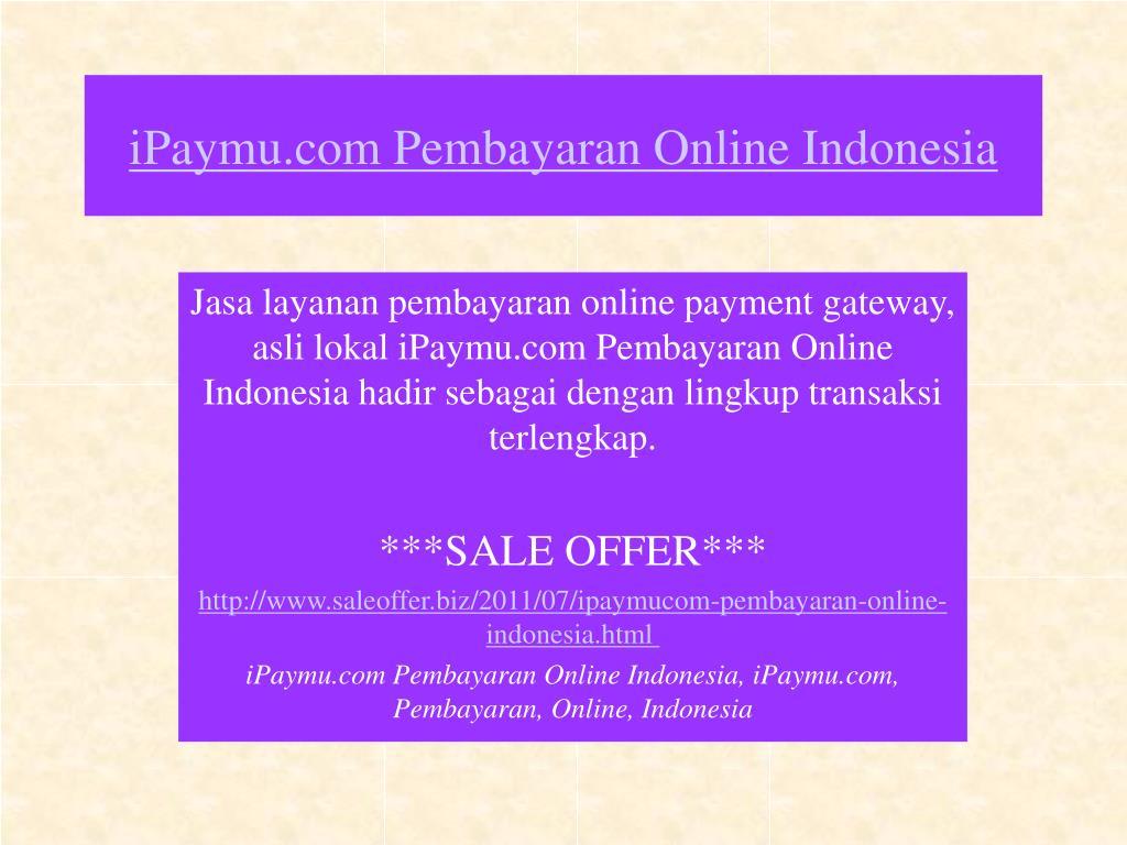 ipaymu com pembayaran online indonesia l.