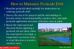 how to minimize pesticide drift