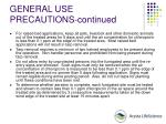 general use precautions continued53