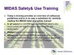 midas safety use training