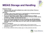 midas storage and handling