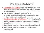condition of a matrix
