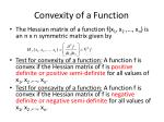 convexity of a function