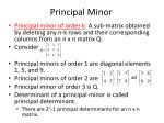 principal minor